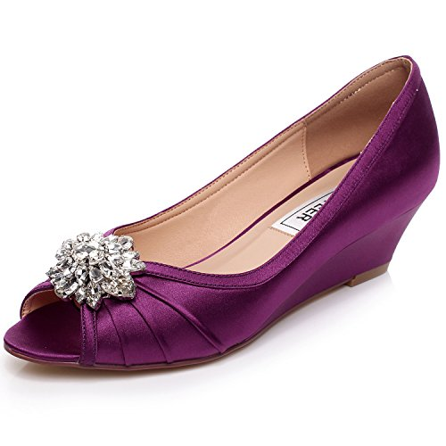 2 inch wedge wedding shoes photo - 1