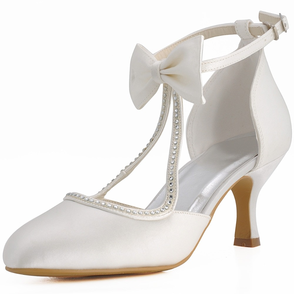 2.5 inch wedding shoes photo - 1