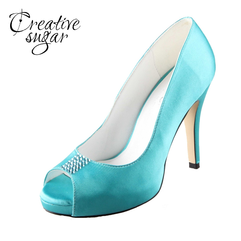 aqua bridal shoes photo - 1