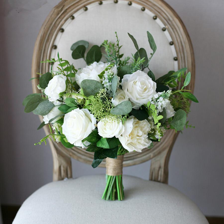 artificial bridal bouquets photo - 1