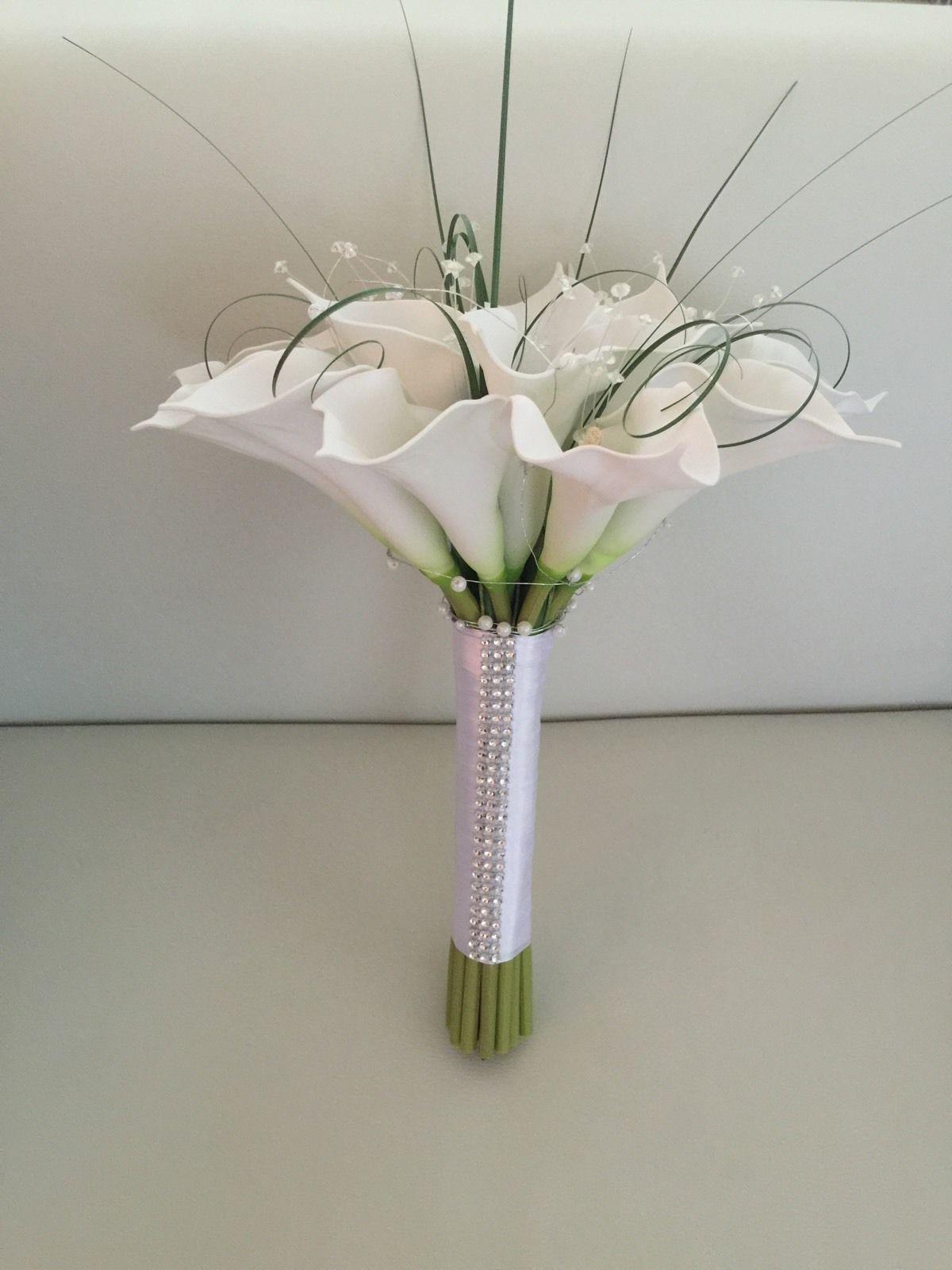 artificial calla lily wedding bouquets photo - 1