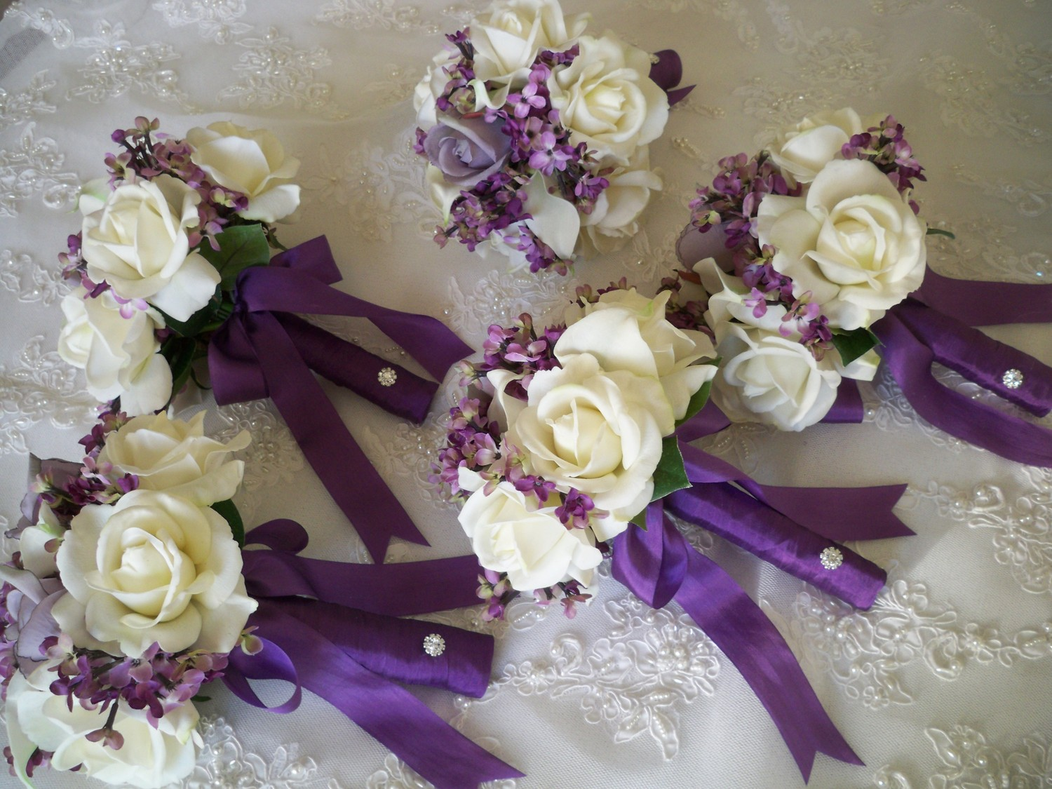 artificial fall wedding bouquets photo - 1
