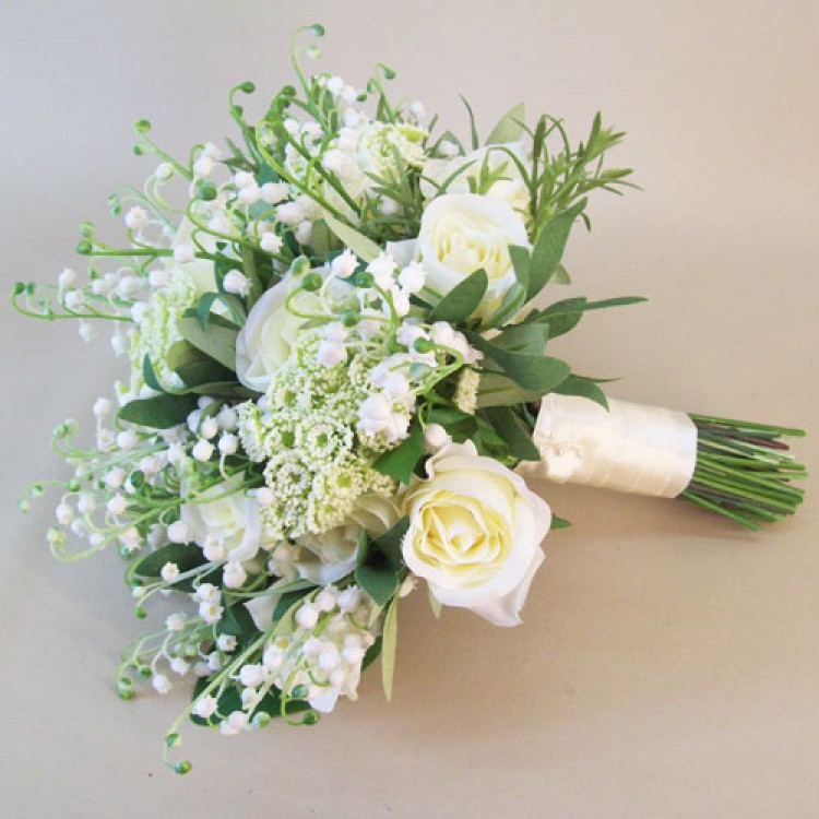 artificial flower bouquets for wedding photo - 1