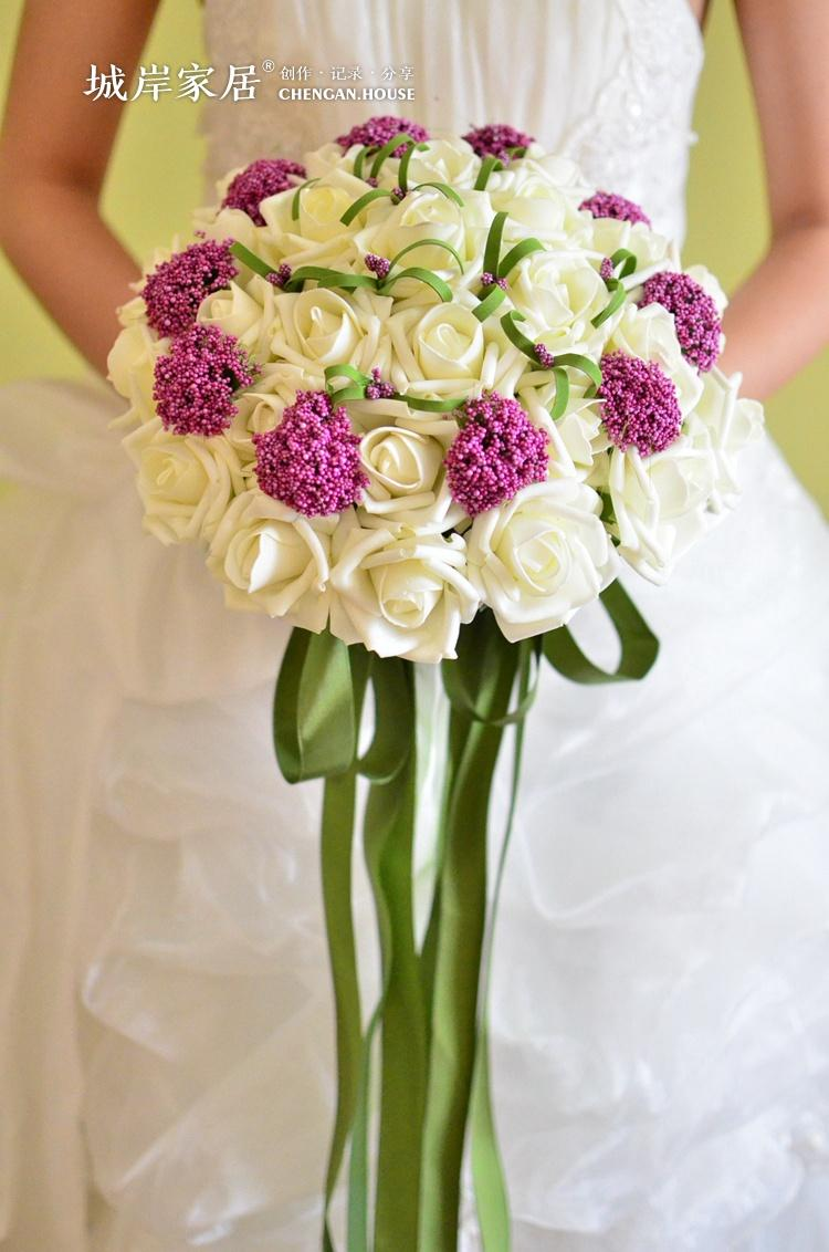artificial wedding bouquets photo - 1