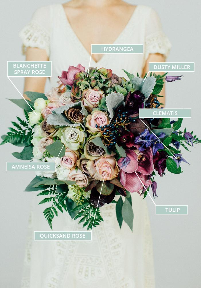 autumnal wedding flowers photo - 1