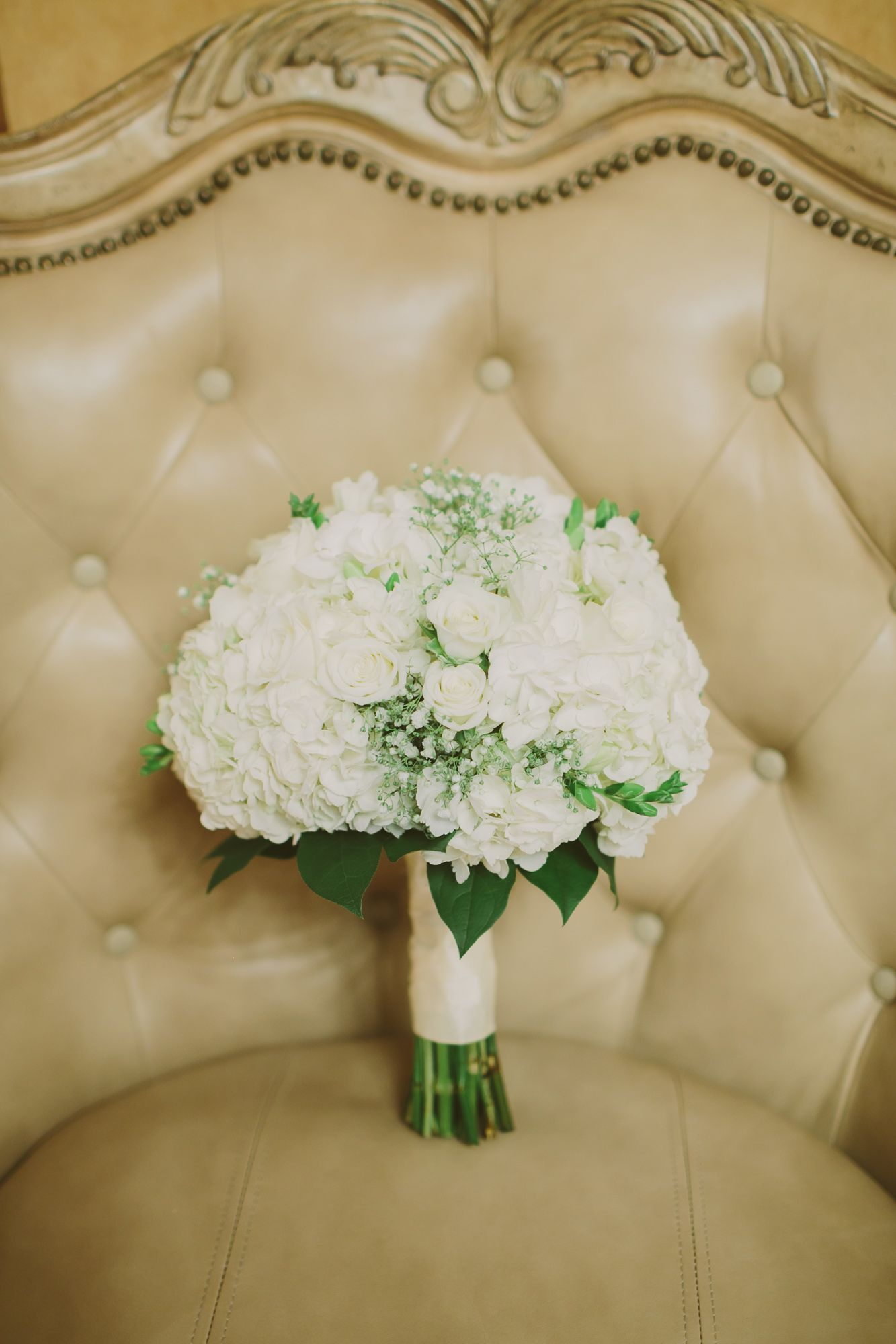 babys breath wedding bouquets photo - 1