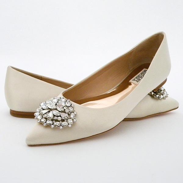 badgley mischka low heel bridal shoes photo - 1