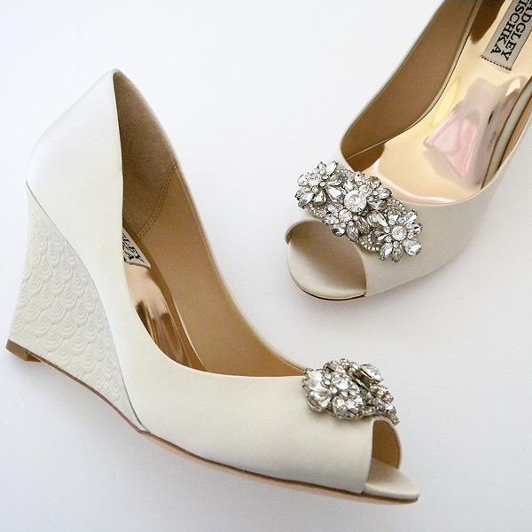 badgley mischka wedge wedding shoes photo - 1