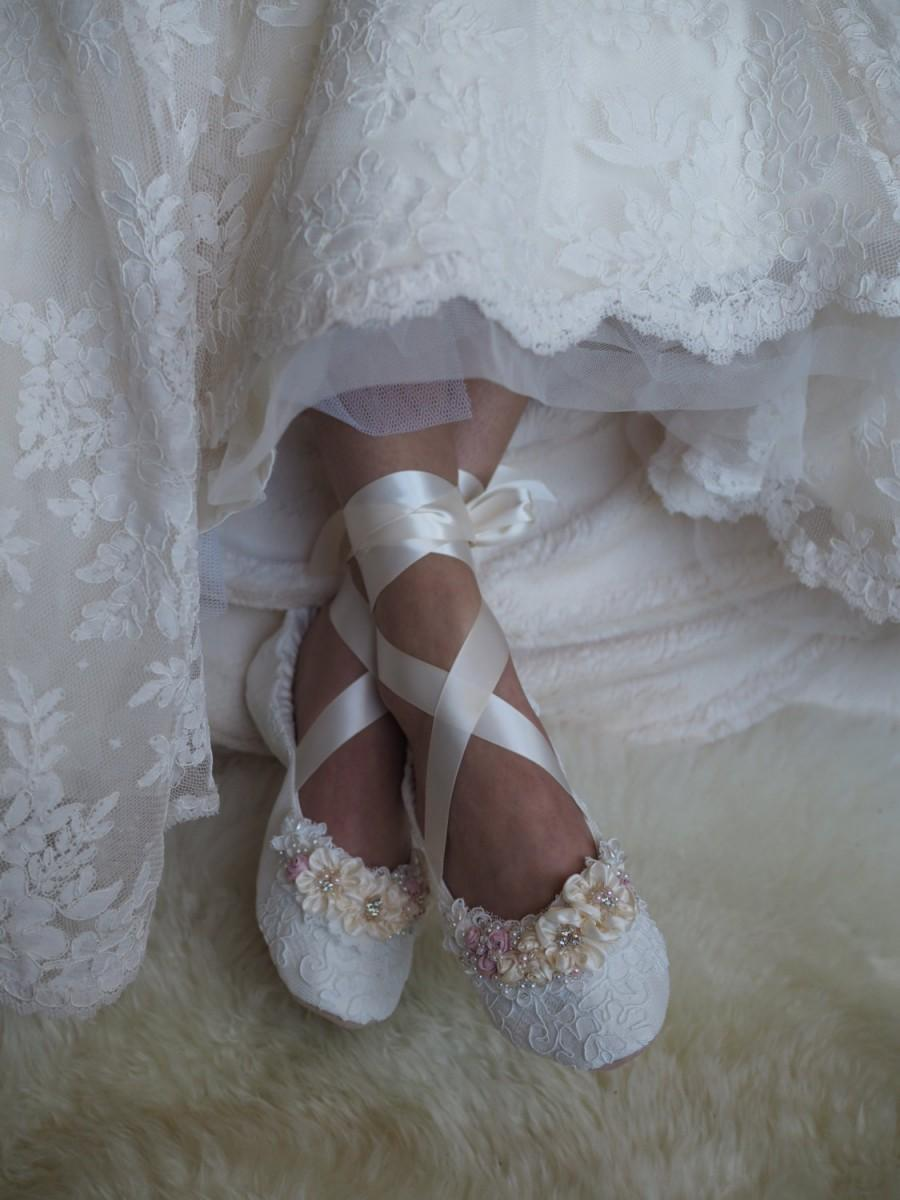 ballerina shoes for wedding photo - 1