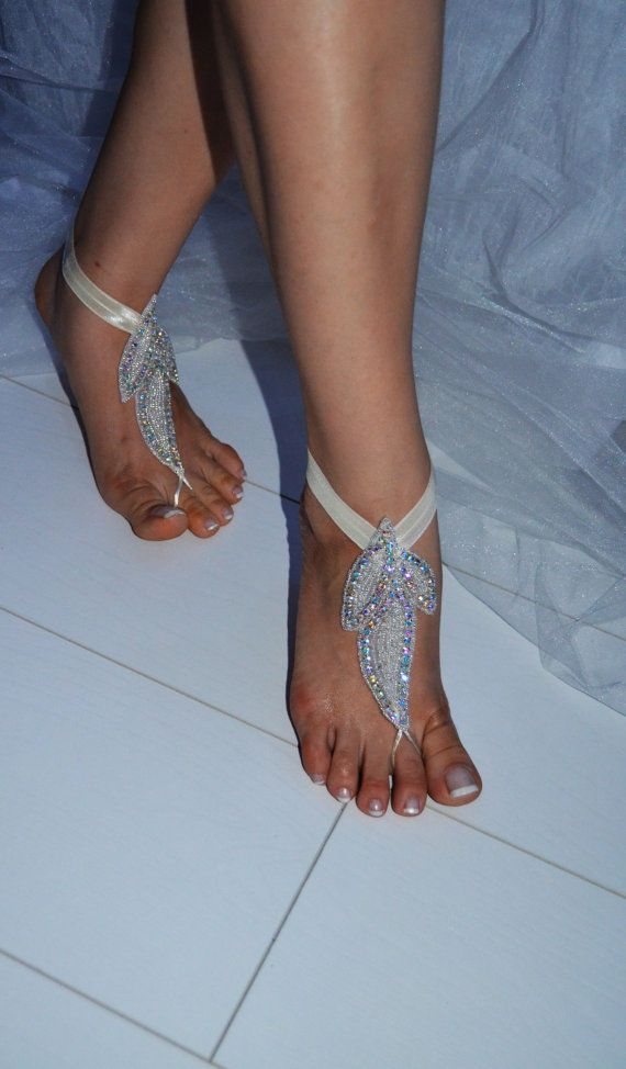 beach bridal shoes photo - 1