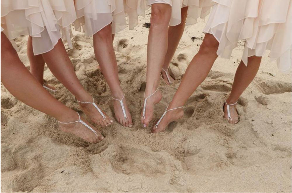 beach wedding shoes for bridesmaids photo - 1