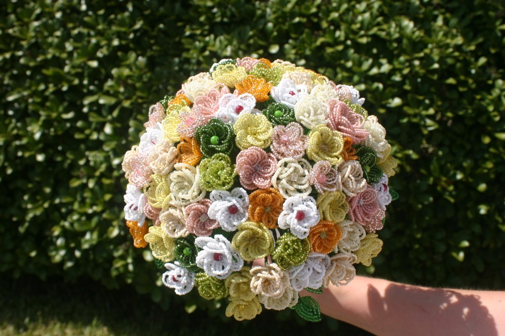 beaded wedding bouquets photo - 1