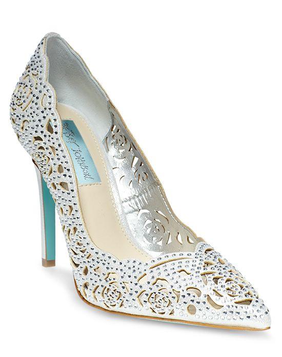 betsey johnson blue wedding shoes photo - 1