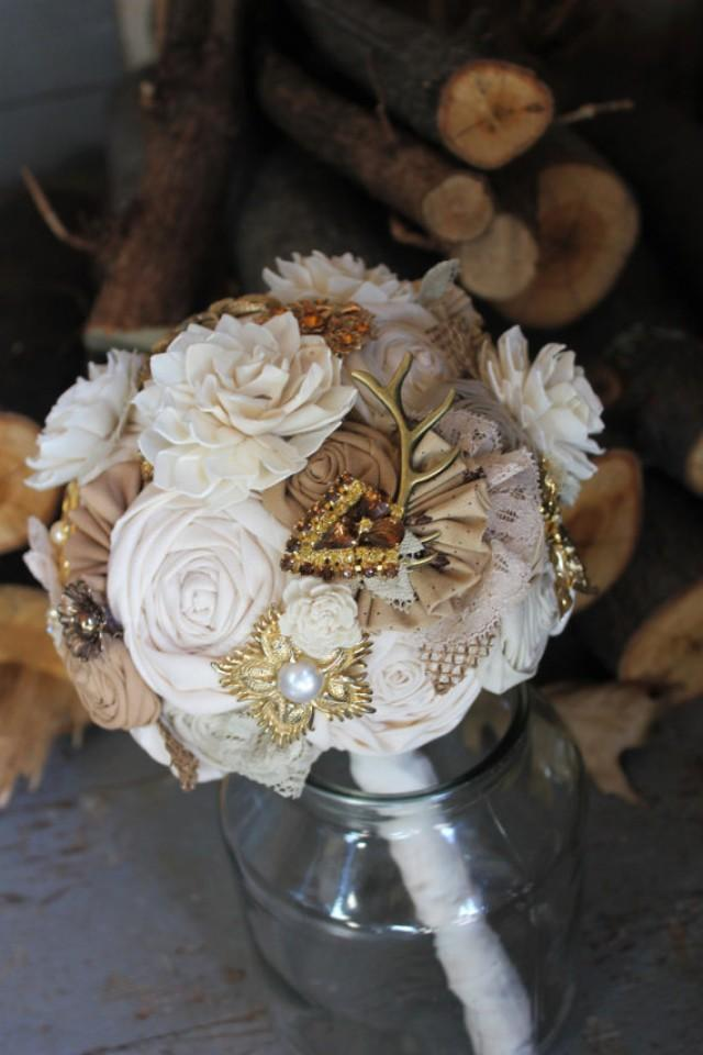 black and gold wedding bouquets photo - 1