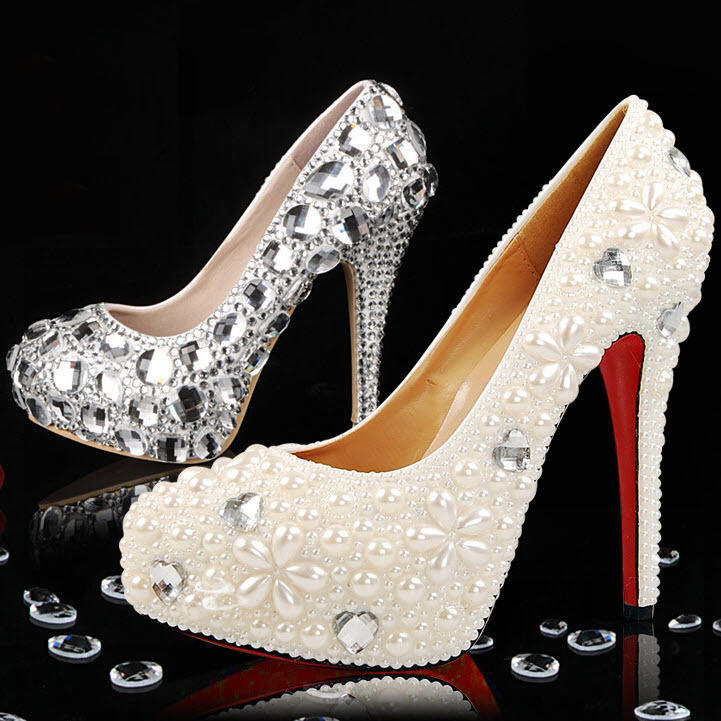 bling shoes for wedding photo - 1