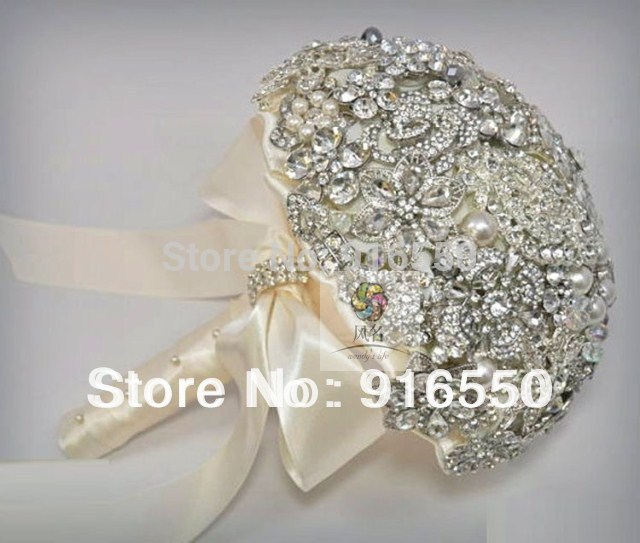 bling wedding bouquets photo - 1