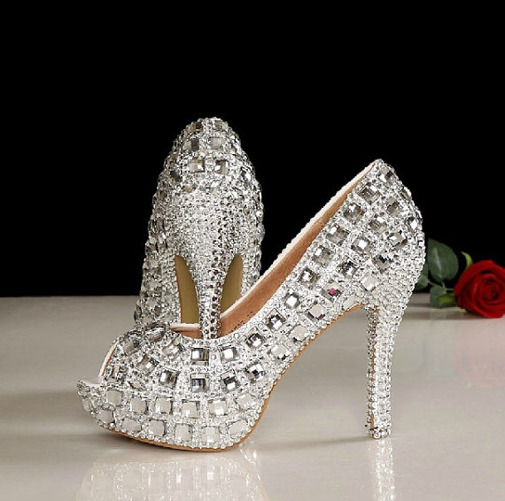 bling wedding shoes photo - 1