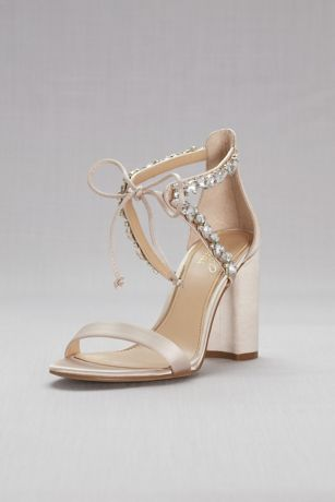 block heel bridal shoes photo - 1