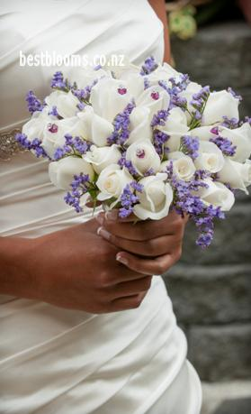 blue and black wedding bouquets photo - 1
