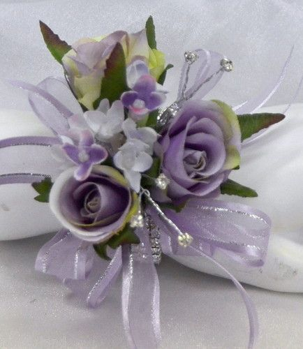 blue and purple wedding flowers photo - 1