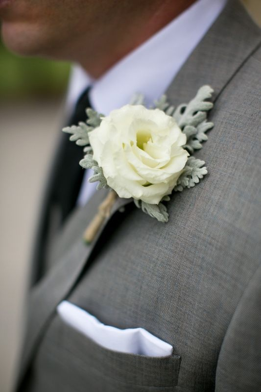 blue and white wedding flowers photo - 1