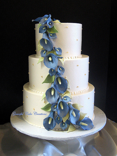 blue flowers for wedding photo - 1