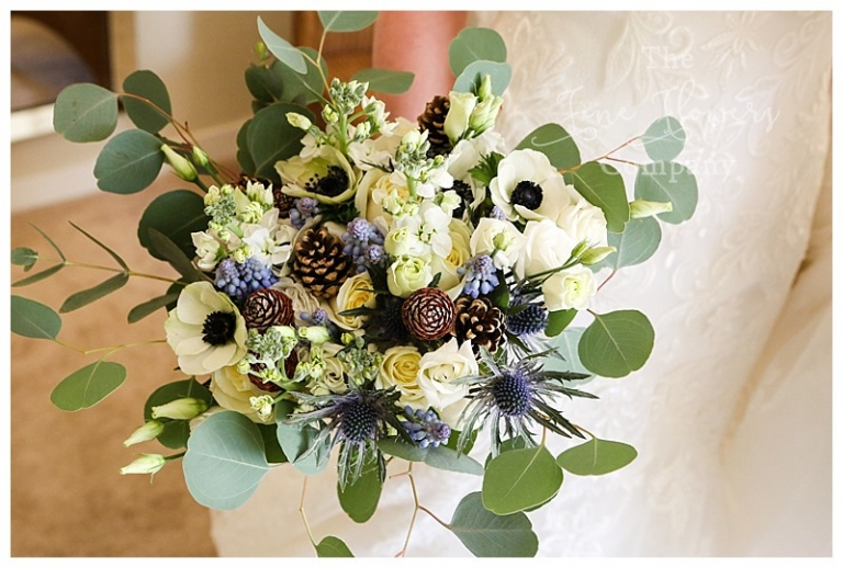 blue flowers wedding bouquet photo - 1