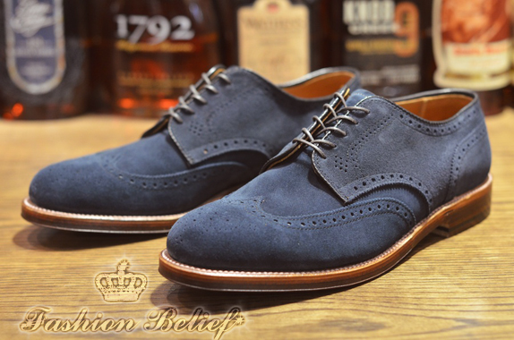 blue suede wedding shoes photo - 1