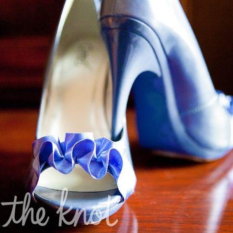 blue wedding shoes photo - 1