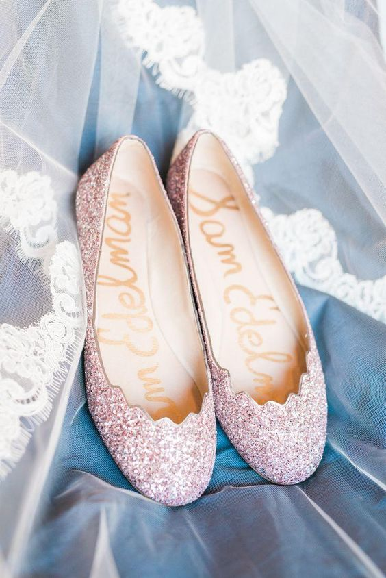 blush bridal shoes photo - 1