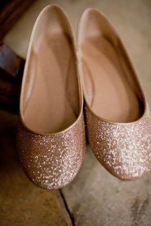 blush flat wedding shoes photo - 1