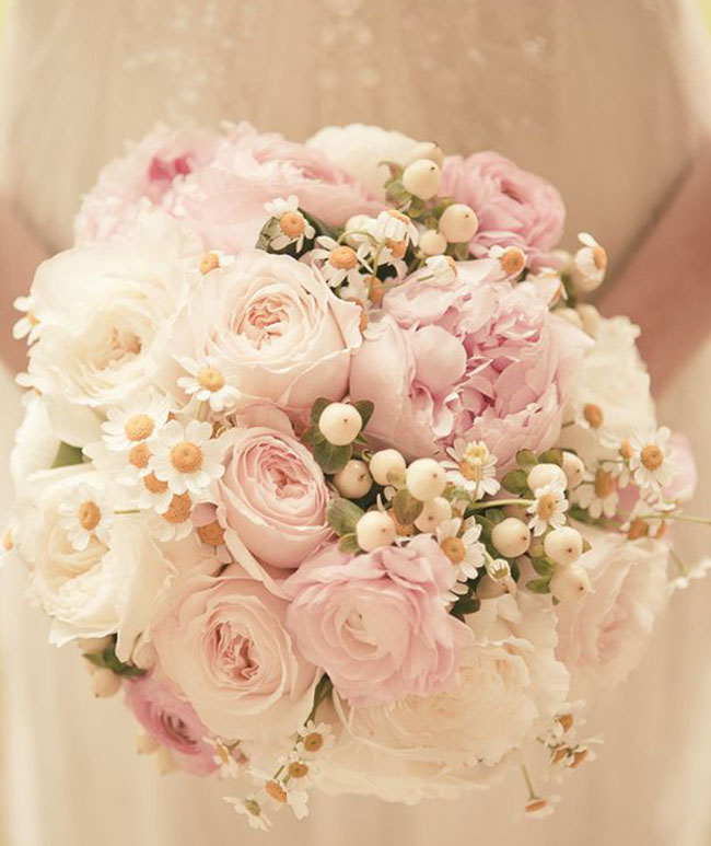 blush pink wedding bouquets photo - 1