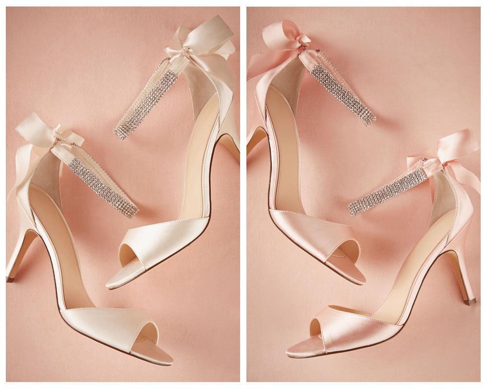 blush shoes wedding photo - 1
