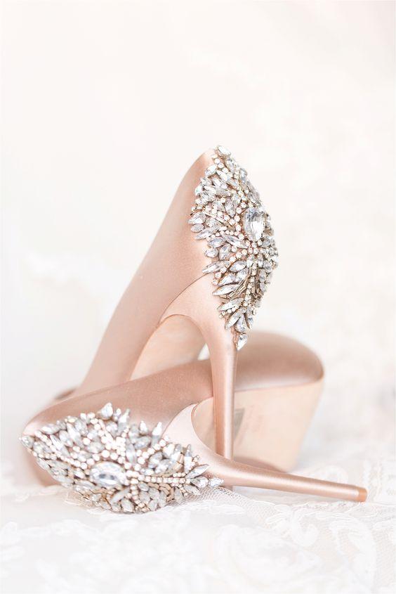 blush wedding shoes photo - 1