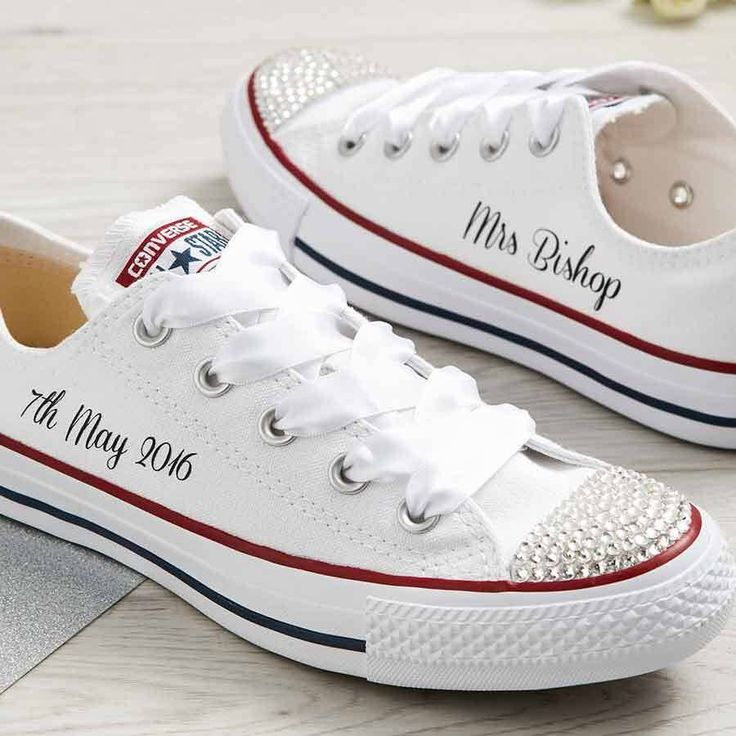 bridal converse shoes photo - 1