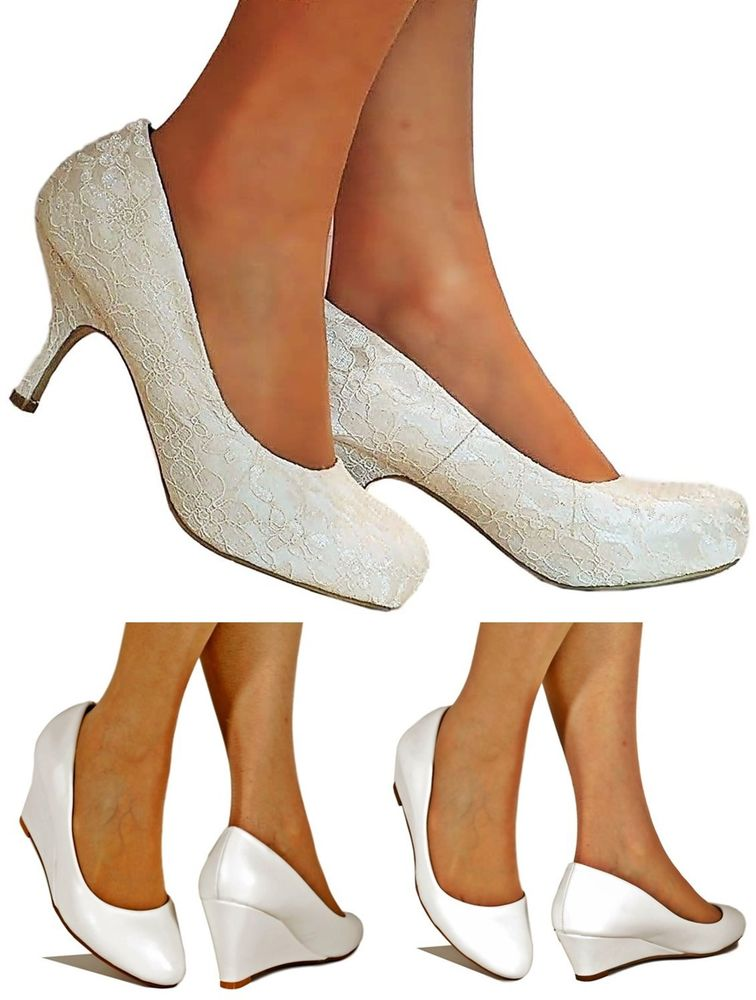 bridal low heel shoes photo - 1