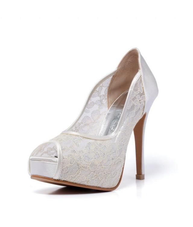 bridal shoes 2 inch heel photo - 1