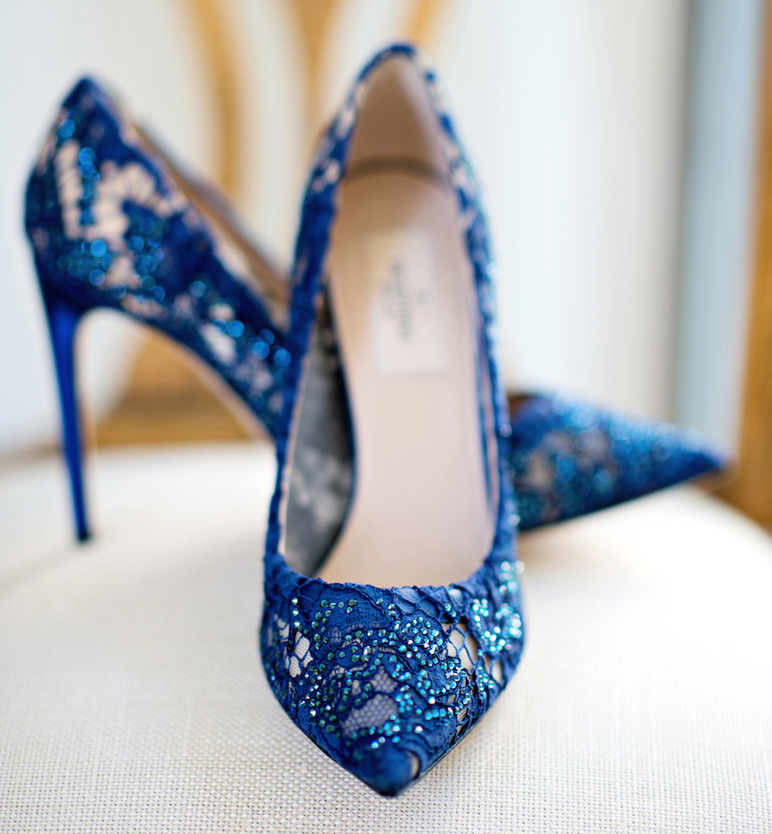 bridal shoes blue photo - 1