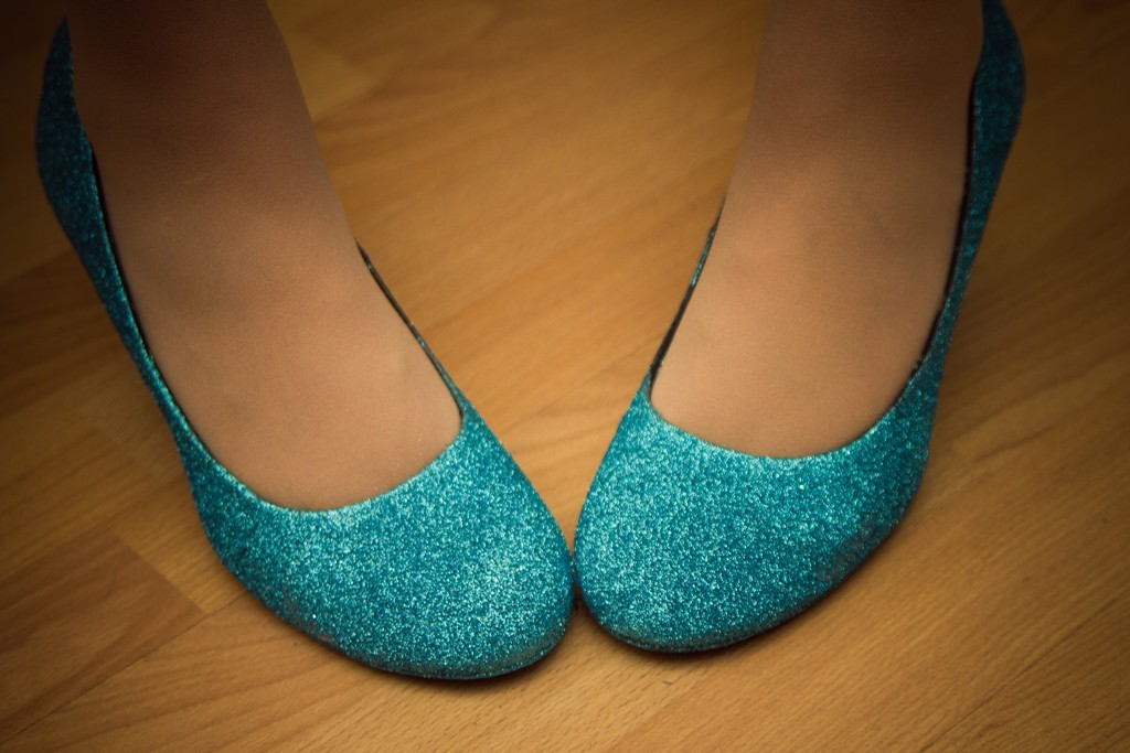 bridal shoes flats blue photo - 1