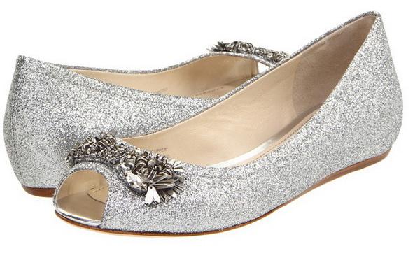 bridal shoes silver photo - 1
