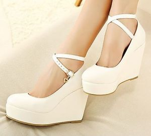 bridal shoes wedge photo - 1
