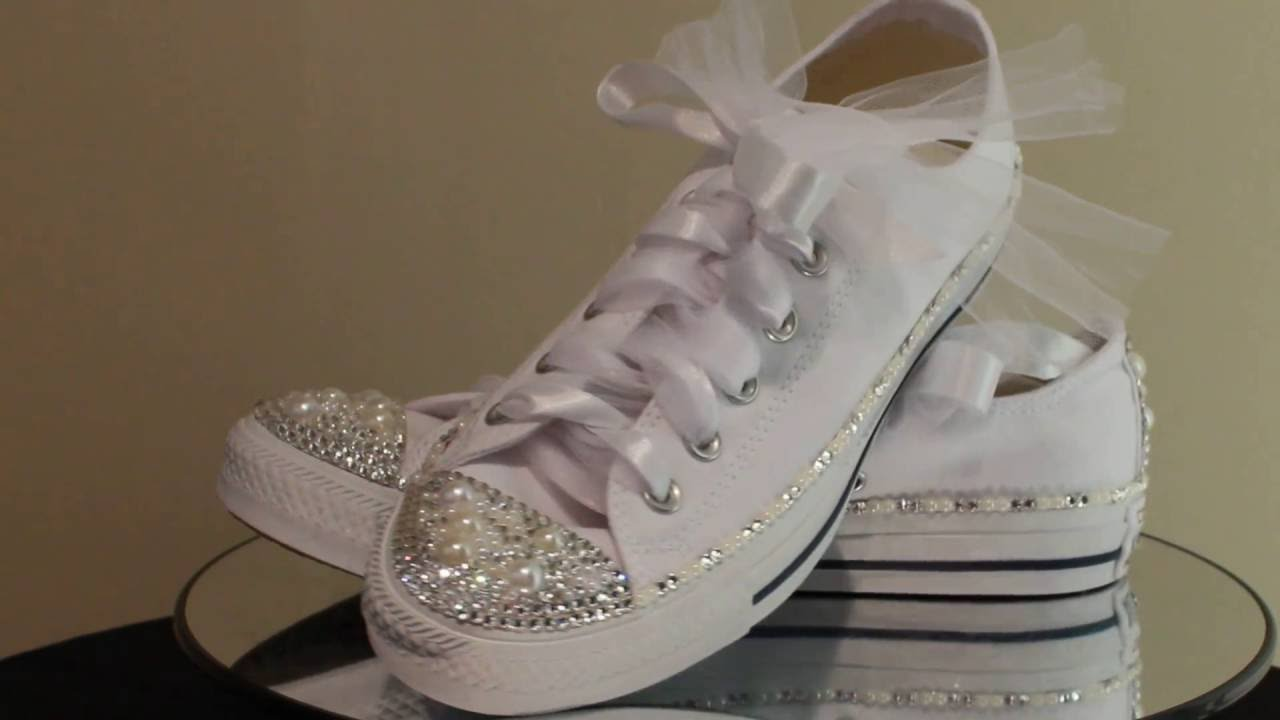bridal tennis shoes photo - 1