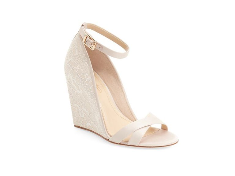 bridal wedge shoes photo - 1