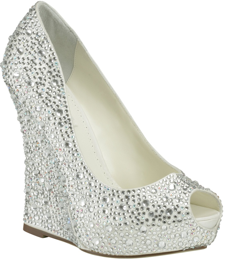 bridal wedges shoes photo - 1