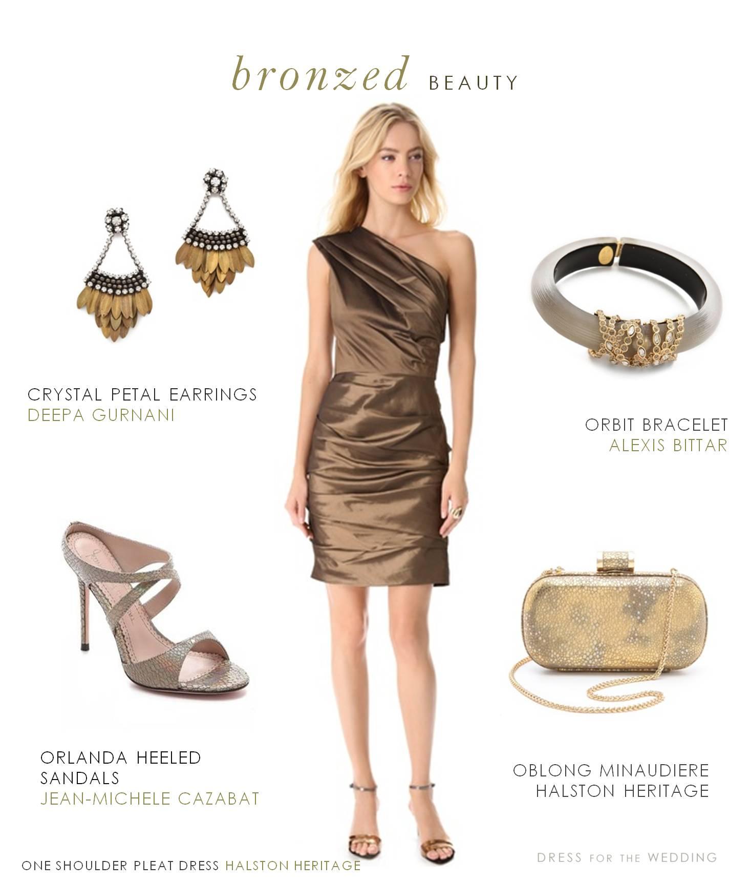 bronze dress shoes wedding photo - 1