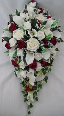 burgundy wedding bouquets photo - 1