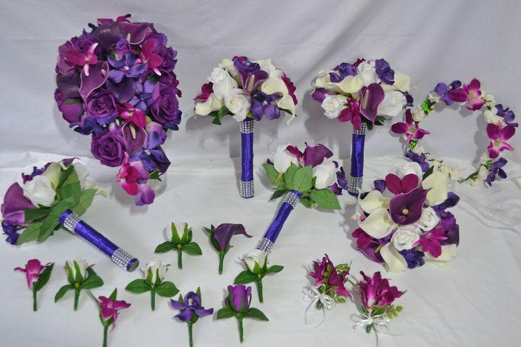buy silk wedding bouquets online photo - 1