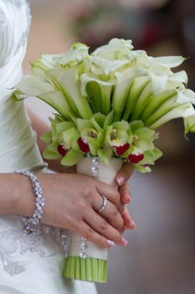 calla lily and orchid wedding bouquets photo - 1