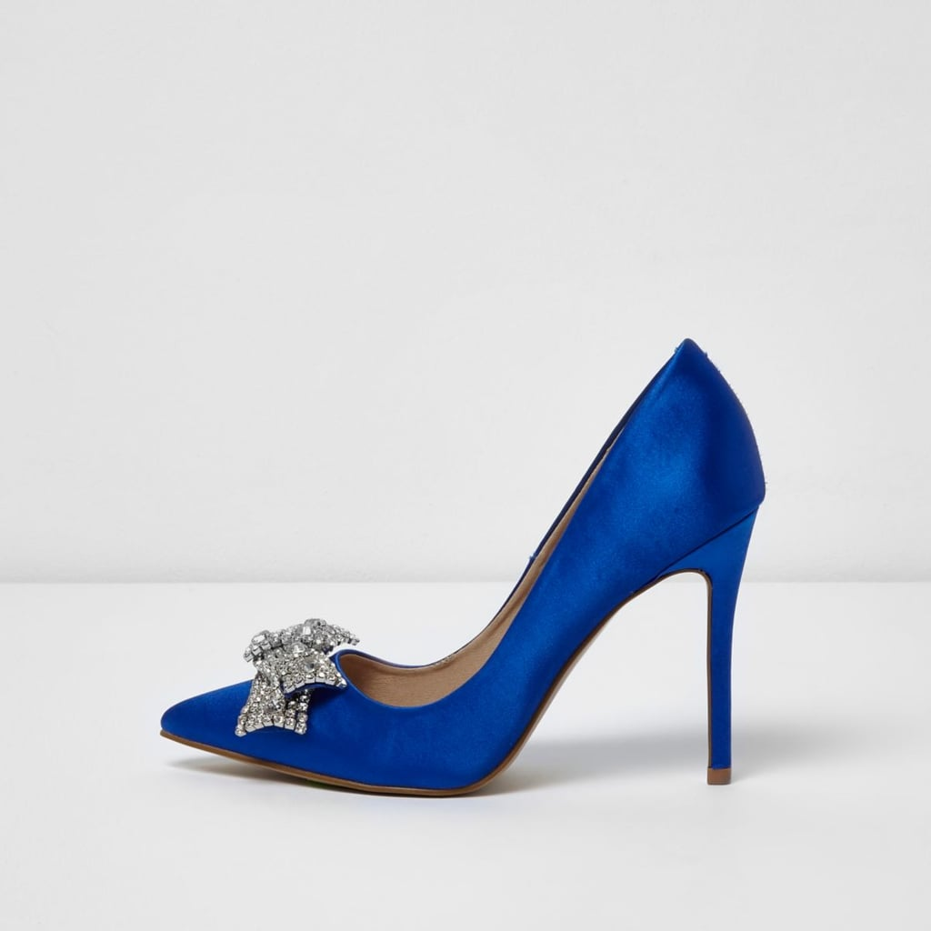 carrie bradshaw blue wedding shoes photo - 1