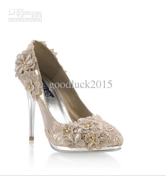champagne colored wedding shoes photo - 1
